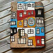 """Блокноты ручной работы. Ярмарка Мастеров - ручная работа Блокнот из дерева А4 """"Хундертвассер-1"""". Handmade."""