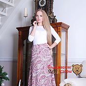 Одежда ручной работы. Ярмарка Мастеров - ручная работа Юбка огурчики фиолетовая. Handmade.