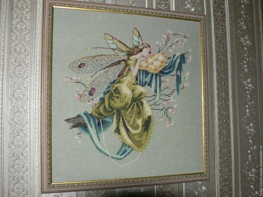 Фэнтези ручной работы. Ярмарка Мастеров - ручная работа. Купить Картина, вышивка крестом, The Dreaming Fairy. Handmade.