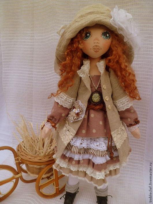 Коллекционные куклы ручной работы. Ярмарка Мастеров - ручная работа. Купить Николь. Handmade. Бежевый, подарок девушке, шерсть овечья