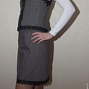 Одежда ручной работы. Ярмарка Мастеров - ручная работа Костюм женский (юбка с жилетом). Handmade.