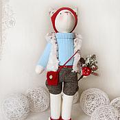 """Куклы и игрушки ручной работы. Ярмарка Мастеров - ручная работа Кошка """"В моем городе вновь первый снег"""". Handmade."""