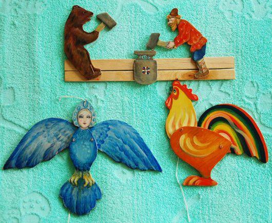 Развивающие игрушки ручной работы. Ярмарка Мастеров - ручная работа. Купить Игрушка Богородская подвижная. Handmade. Игрушка, сказка
