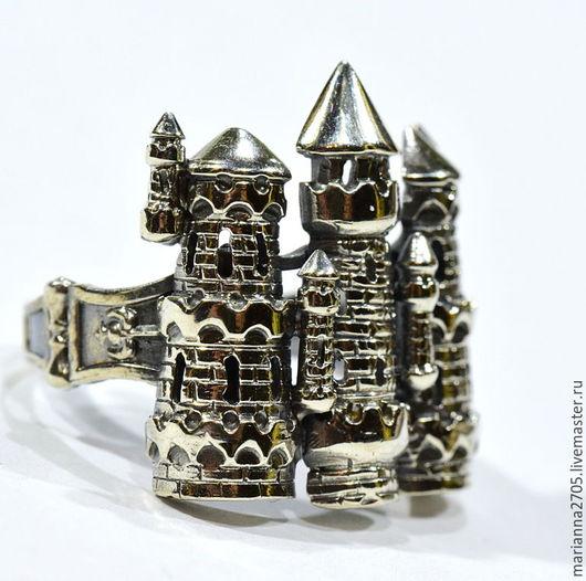 """Кольца ручной работы. Ярмарка Мастеров - ручная работа. Купить """"Старый город"""" изящное кольцо с городом. Handmade. Серебряный"""