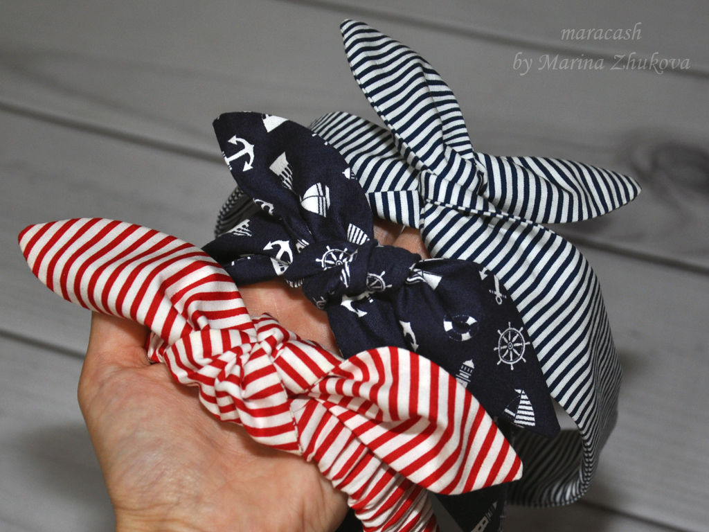 Повязка на голову из ткани солоха своими руками