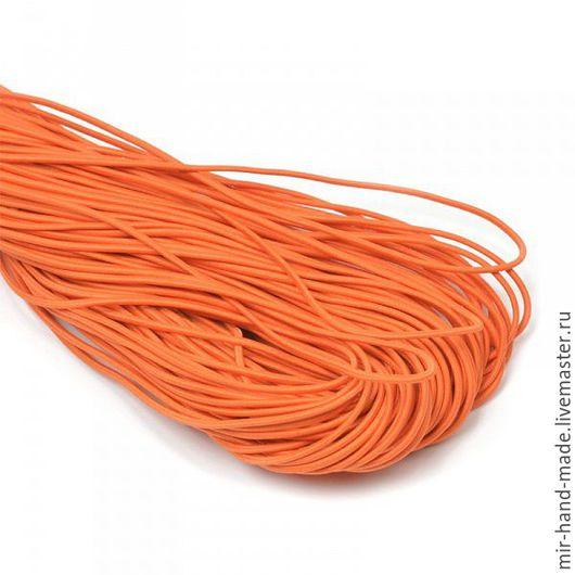 Открытки и скрапбукинг ручной работы. Ярмарка Мастеров - ручная работа. Купить Шнур шляпный 2,2 мм цв.  оранжевый. Handmade.