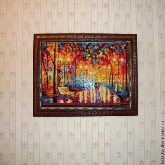 """Пейзаж ручной работы. Ярмарка Мастеров - ручная работа. Купить картина Афремова """"Шелест дождя"""". Handmade. Разноцветный, картина"""