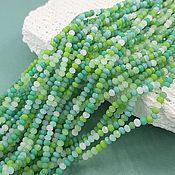 Материалы для творчества handmade. Livemaster - original item Thread 21 cm Faceted Rondel 3x2 mm mix of colors (5605). Handmade.