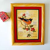 Картины и панно handmade. Livemaster - original item Embroidery