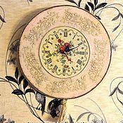 Для дома и интерьера handmade. Livemaster - original item Watch for the kitchen in the style of shebbi-chic. Handmade.