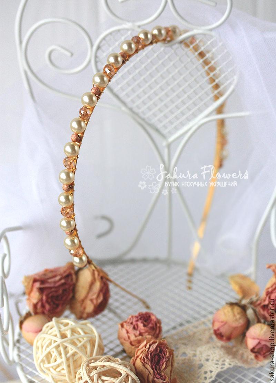 Tiara headband pearl wedding vintage \