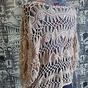 Одежда ручной работы. Ярмарка Мастеров - ручная работа вязаный балахончик в стиле бохо. Handmade.