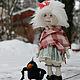Коллекционные куклы ручной работы. Зимнии забавы. Евстифеева Татьяна. Ярмарка Мастеров. Войлок, кукла интерьерная