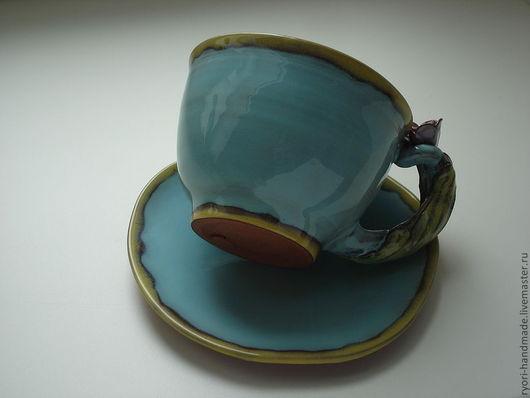 """Сервизы, чайные пары ручной работы. Ярмарка Мастеров - ручная работа. Купить Чайная пара """"Лазурная"""". Handmade. Бирюзовый"""