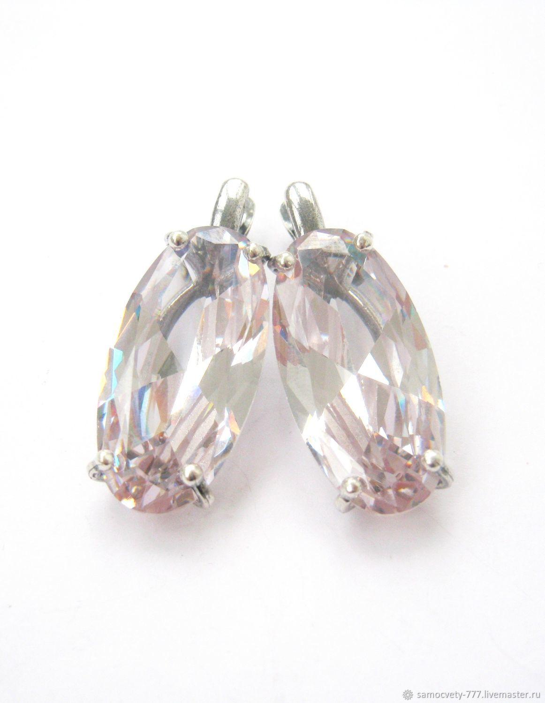 Silver earrings'rhinestone', Earrings, Feodosia,  Фото №1