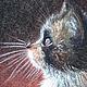 Животные ручной работы. Ярмарка Мастеров - ручная работа. Купить Котенок. Handmade. Котенок, картина, подарок, новосибирск, болотова татьяна