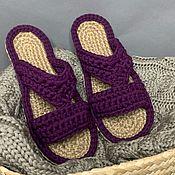 Обувь ручной работы handmade. Livemaster - original item spanking female. Home Slippers. Handmade.