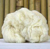 Материалы для творчества handmade. Livemaster - original item P3566.  Noyl Mulberry silk. Color: white. 10 gr.. Handmade.