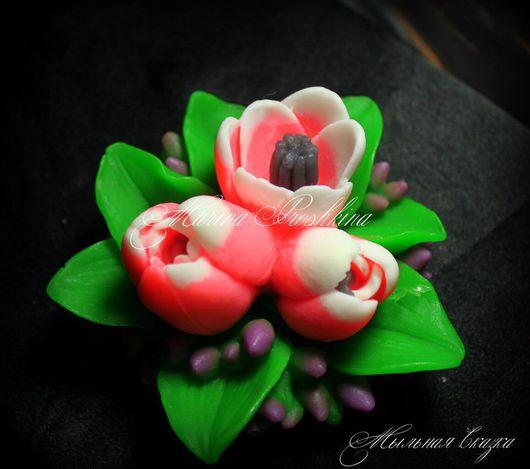 Мыло ручной работы. Ярмарка Мастеров - ручная работа. Купить Мыло тюльпан, сувенирное мыло. Handmade. Комбинированный, сувенирное мыло