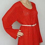 """Одежда ручной работы. Ярмарка Мастеров - ручная работа Пуловер шелк-меринос """"Aurora Red"""". Handmade."""