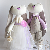 Свадебный салон ручной работы. Ярмарка Мастеров - ручная работа Свадебные игрушки - зайчики. Подарок на свадьбу. Handmade.