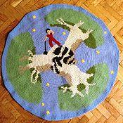 Для дома и интерьера ручной работы. Ярмарка Мастеров - ручная работа коврик с баобабами. Handmade.