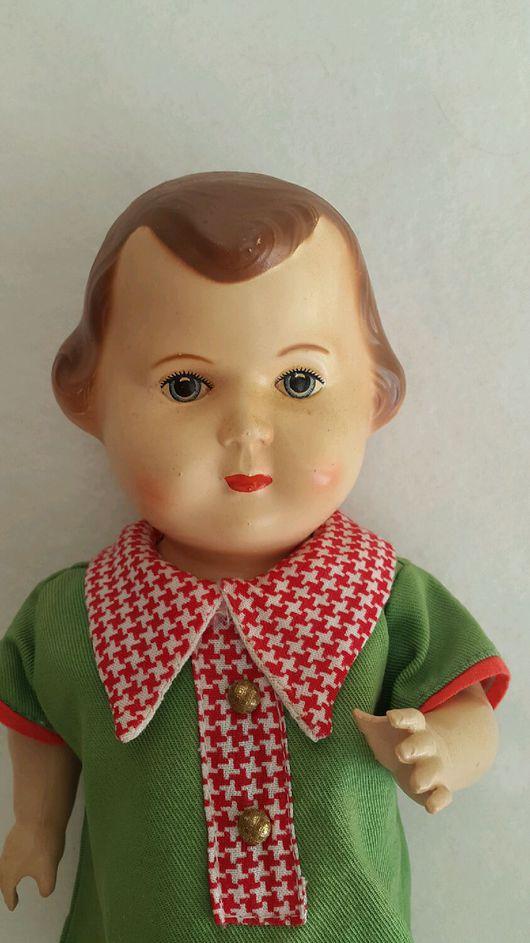 Винтажные куклы и игрушки. Ярмарка Мастеров - ручная работа. Купить Редкая Целлулоидная малышка Czehoslovakia. Handmade. Бежевый, чехословакия