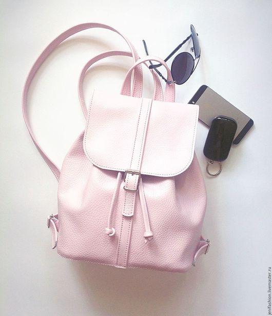 """Рюкзаки ручной работы. Ярмарка Мастеров - ручная работа. Купить Кожаный рюкзак - """"Розовый пломбир ll """". Handmade."""