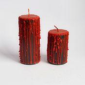 Свечи ручной работы. Ярмарка Мастеров - ручная работа Свечи: Комплект свечей ручной работы Хэллоуин. Handmade.