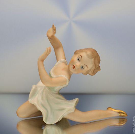 Винтажные предметы интерьера. Ярмарка Мастеров - ручная работа. Купить Девочка танцовщица балерина Германия 17. Handmade. Разноцветный, антиквариат