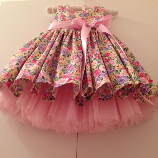 """Одежда для девочек, ручной работы. Ярмарка Мастеров - ручная работа. Купить Платье для принцессы """"Цветочно-розовое"""". Handmade. Платье"""
