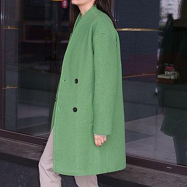 Одежда ручной работы. Ярмарка Мастеров - ручная работа Пальто: Пальто из буклированой шерсти утепленное. Handmade.