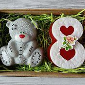 Косметика ручной работы handmade. Livemaster - original item Soap set Bear with eight 2. Handmade.