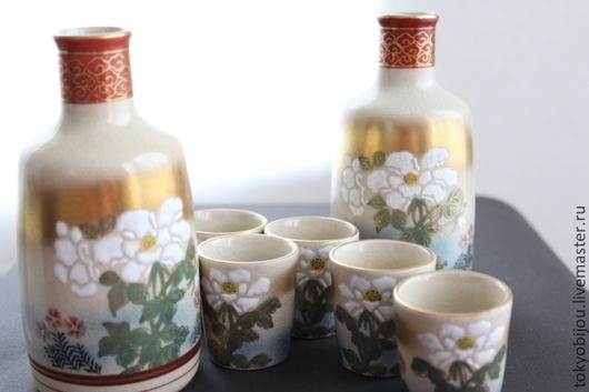 японский набор, комплект для стола, пдарок для мужчины, набор для сакэ, бутылочки, токкури, ваза для цветов, подарочный набор, стаканчик, бутылочка, япония, вино, набор для вина, для сока, для воды, у