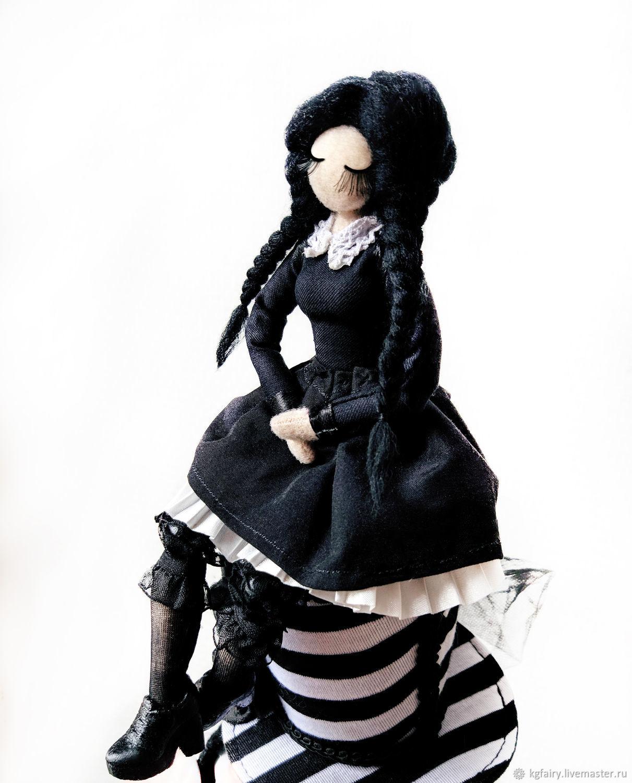 Авторская кукла. Уэнсдэй Аддамс, Куклы и пупсы, Москва,  Фото №1