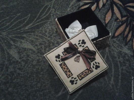 Шкатулки ручной работы. Ярмарка Мастеров - ручная работа. Купить шкатулка. Handmade. Цвет леопард, картон, канва