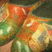 """Обувь ручной работы. Ярмарка Мастеров - ручная работа Тапочки из шерсти """"Осенние"""". Handmade."""