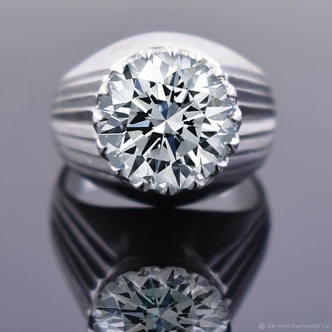 Крупный белый бриллиант, Перстень, Москва,  Фото №1