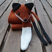 Аксессуары handmade. Livemaster - original item Scarf Fox knitted from Merino wool. Handmade.