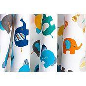 """Ткани ручной работы. Ярмарка Мастеров - ручная работа Премиум-хлопок """"слоники"""". Handmade."""