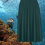 """Одежда ручной работы. Ярмарка Мастеров - ручная работа Морская волна теплая юбка на зиму """"Коралловый риф"""". Handmade."""
