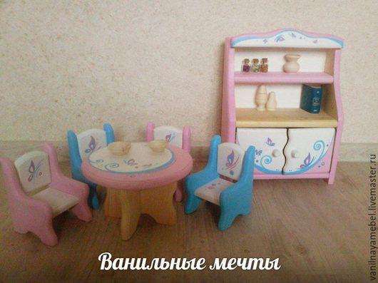 """Кукольный дом ручной работы. Ярмарка Мастеров - ручная работа. Купить Кукольная мебель """"Ванильные мечты"""" 2. Handmade. Розовый"""