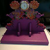 Для дома и интерьера ручной работы. Ярмарка Мастеров - ручная работа Часы настольные «Девочки». Handmade.