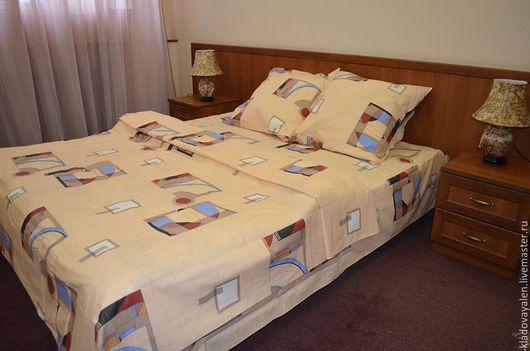 Комплект постельного белья изо льна `Графика`