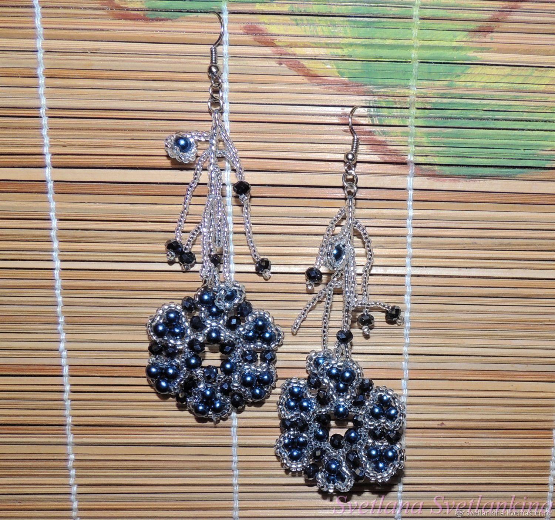 Earrings Blue pearl No. №1