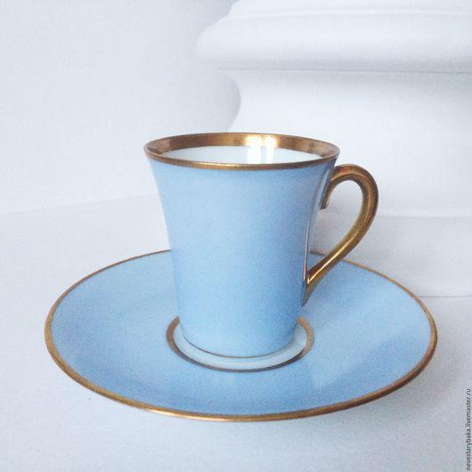 """Винтажная посуда. Ярмарка Мастеров - ручная работа. Купить Фарфоровая пара """"Pavlova"""" для кофе и шоколада, Швеция, 1930-1940-е. Handmade."""