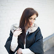 Одежда handmade. Livemaster - original item new jacket for autumn - spring with mink collar. Handmade.