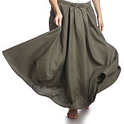Одежда handmade. Livemaster - original item Skirts: Skirt boho linen. Handmade.
