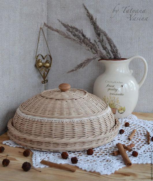 Кухня ручной работы. Ярмарка Мастеров - ручная работа. Купить Хлебница плетеная. Handmade. Бежевый, для кухни, уютный дом