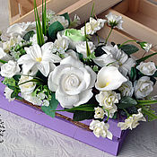 Косметика ручной работы. Ярмарка Мастеров - ручная работа Мыльный цветочный набор в ящичке. Handmade.